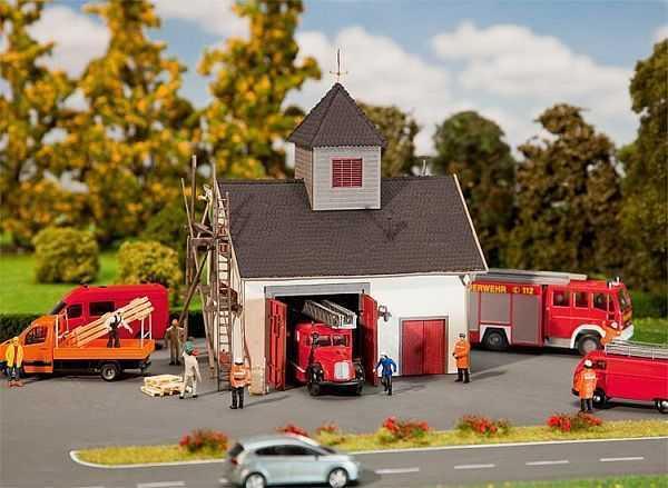 Ländliches Feuerwehrhaus