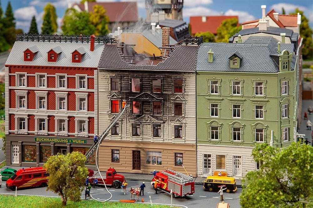 Brennendes Wohnhaus