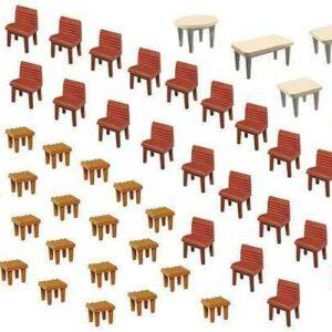 7 Tische und 48 Stühle