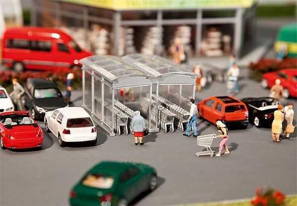 Moderner Einkaufswagen-Unterstand