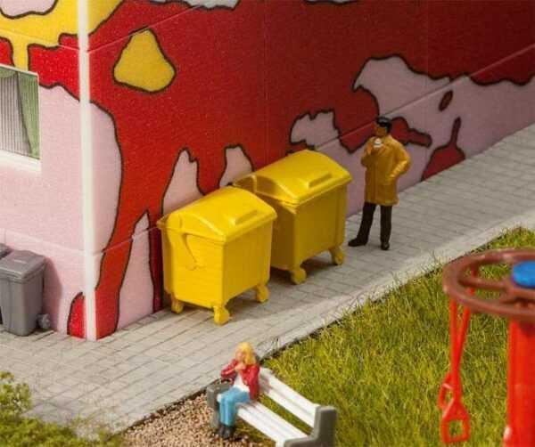 2 Gelbe Mülltonnen