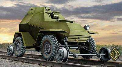 Ba-64ZhD (railroad versions) w/railway Track Set