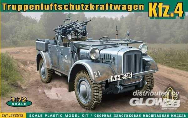 Kfz.4 WWII German AA motor vehicle