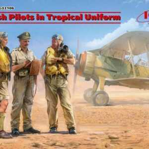 British Pilots in Tropical Uniform(1939-1943) (3 figures)