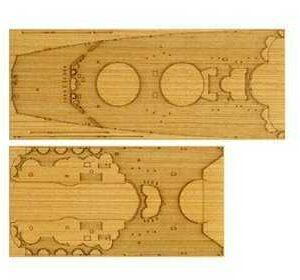 WWII Yamato Holz-Deck Dekor
