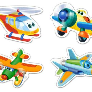 Funny Planes - 4x Puzzle - 3+4+6+9 Teile