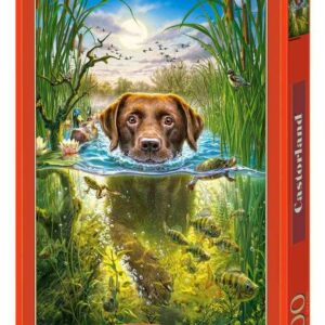 Swimming Dog - Puzzle - 500 Teile