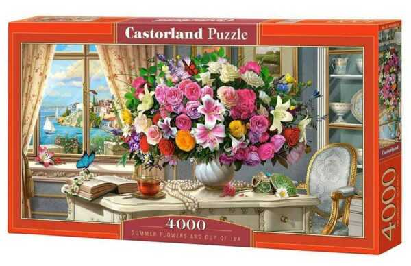 Summer Flowers and Cup of Tea - Puzzle - 4000 Teile