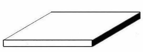 Durchsichtige Polystyrolplatte