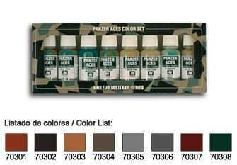 Panzer Aces Set No1 (8 Farben) (Rust