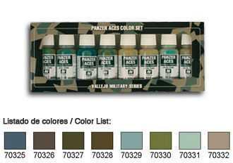 Panzer Aces Set No4 (8 Farben) (Russian