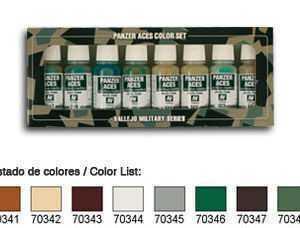 Panzer Aces Set No6 (8 Farben) (Skintones