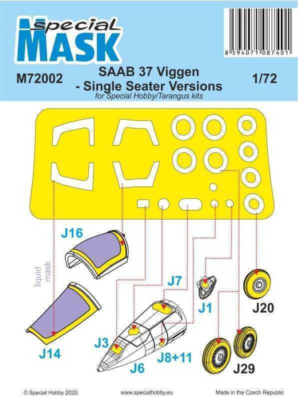 SAAB 37 Viggen Single Seater - Mask
