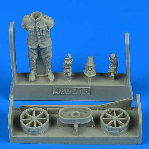 German or Autro-Hungarian WWI - Aircraft mechanic with cart
