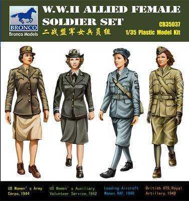WW II Allied Female Soldier Set(4 Fig.)