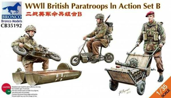 WWII British Parattroops In Action Set B