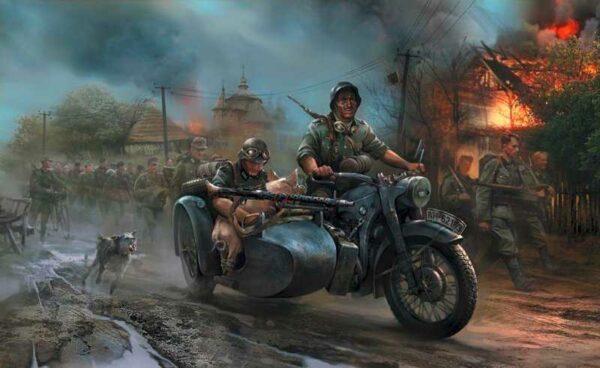 WWII Deutsches Motorrad R-12