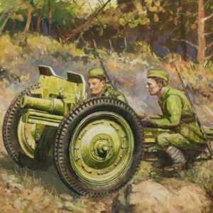 WWII Soviet 76 mm Geschütz
