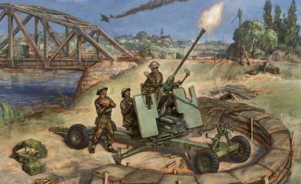 Britische Bofors 40mm Mk-2 FLAK
