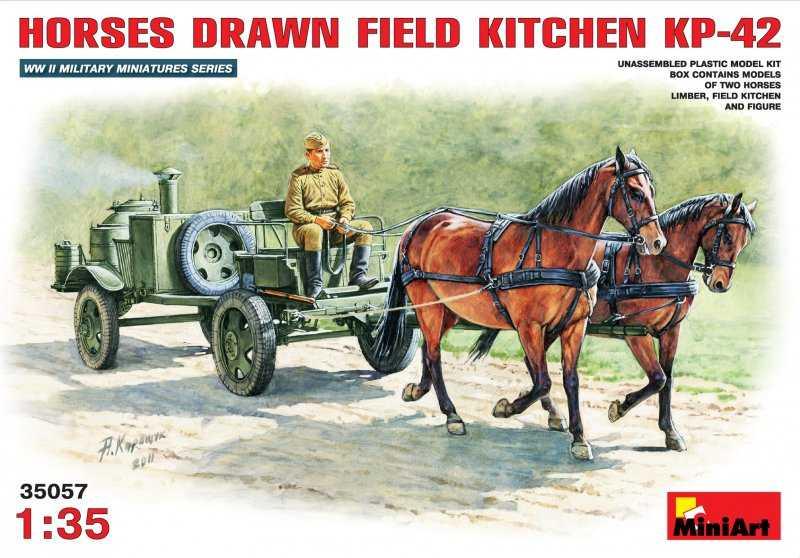 Feldküche als Pferdefuhrwerk