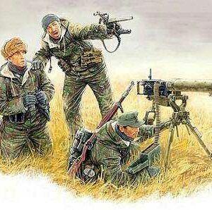 German Machinegun Crew Eastern Front Kurland 1944