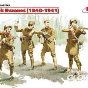 WWII Griechische Evzones Soldaten - 4 Figuren
