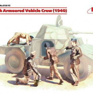 WWII französische Panzerwagen-Besatzung