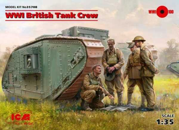 WWI British Tank Crew (4 figures)