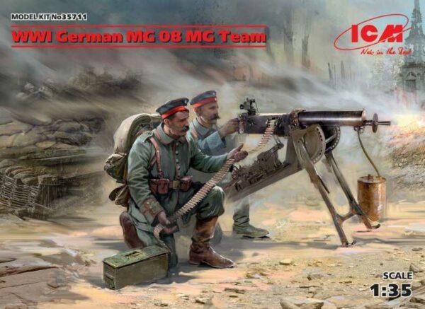 WWI German MG08 MG Team (2 figures)