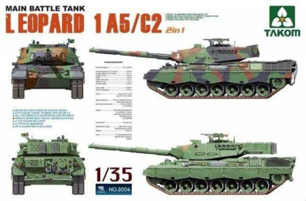 Main Battle Tank Leopard 1 A5/C2 2 in 1