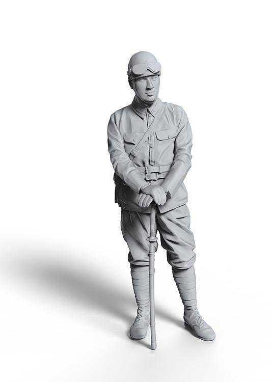 WWI Japanischer Panzer Kommandant