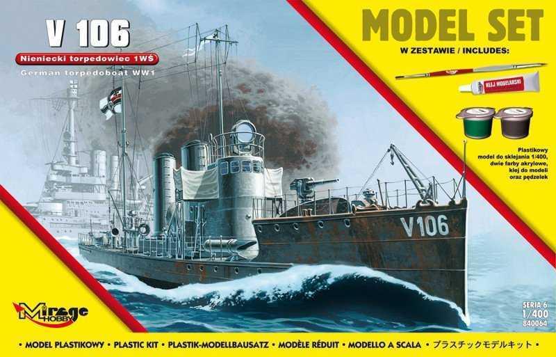 V 106 German WWI Torpedo Ship (Model Set)