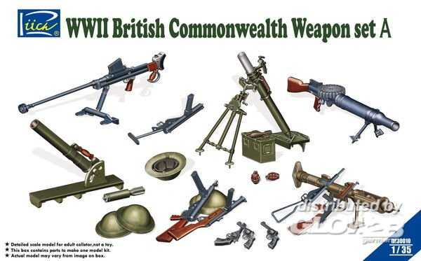 WWII British Commenwealth Weapon Set A