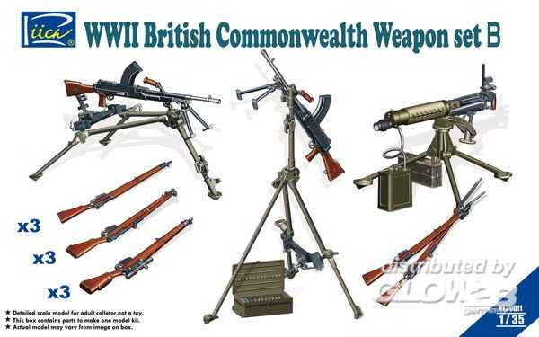 WWII British Commenwealth Weapon Set B
