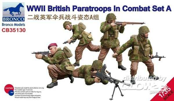 WWII British Paratroops in Combat Set A