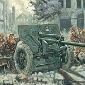 Rus. ZIS 3 Kanone mit Figuren