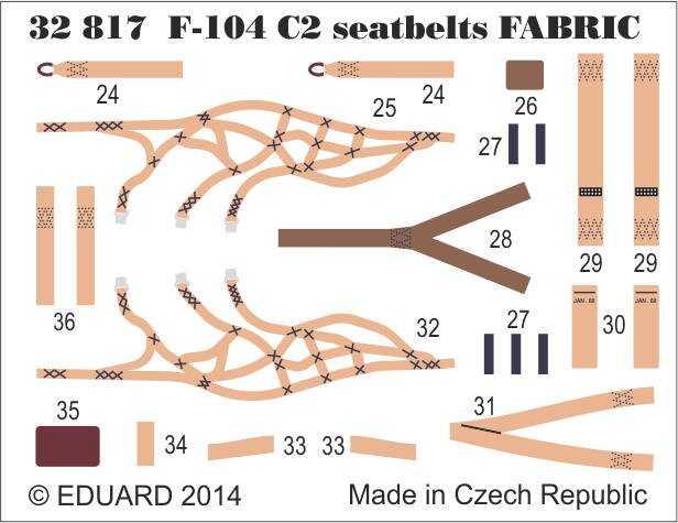 F-104 C2 – Seatbelts SUPER FABRIC
