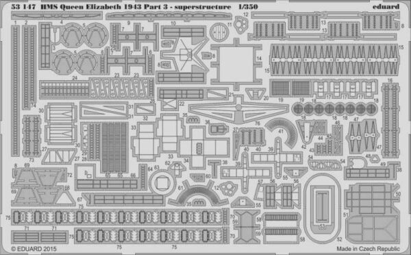 HMS Queen Elizabeth 1943 - Part 3 - Superstructure [Trumpeter]
