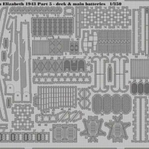 HMS Queen Elizabeth 1943 - Part 5 - Deck & main batteries [Trumpeter]