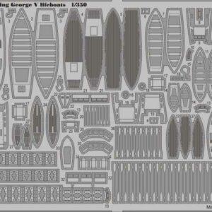 HMS King George V - Lifeboats [Tamiya]