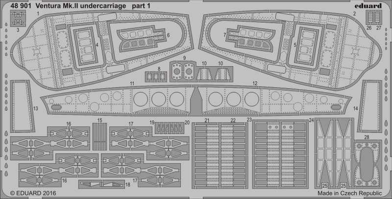 Ventura Mk.II – Undercarriage [Revell]