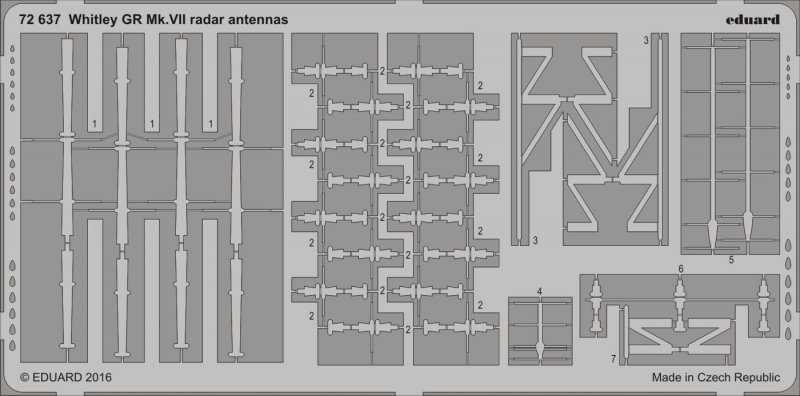 Armstrong Whitworth Whitley Mk.VII - Radar antennas [Airfix]