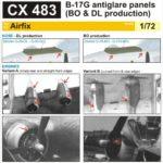 Boeing B-17G Flying Fortress – Antiglare panels (BO&DL produktion) [Airfix]