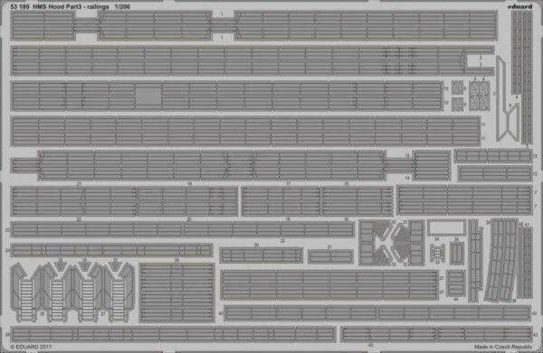 HMS Hood - Pt.3 Railings [Trumpeter]