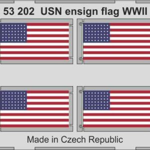 USN ensign flag WW2 STEEL