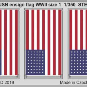 USN ensign flag WWII size 1 STEEL