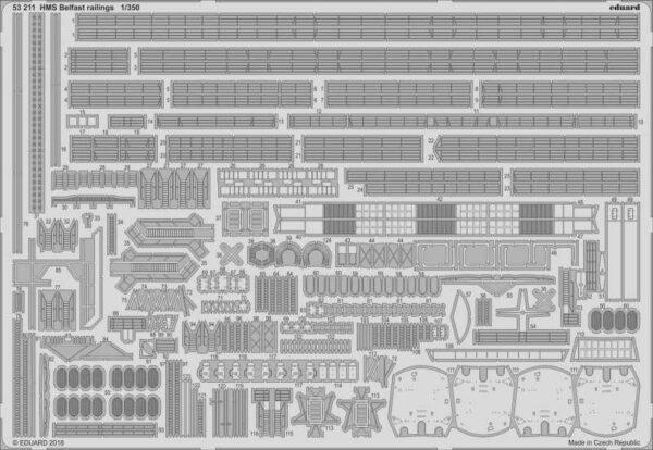 HMS Belfast - Railings [Trumpeter]