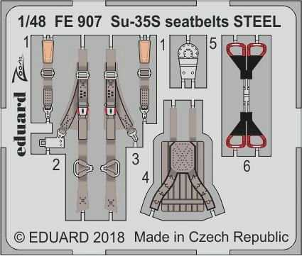 SU-35S Flanker E – Seatbelts STEEL [Great Wall Hobby]