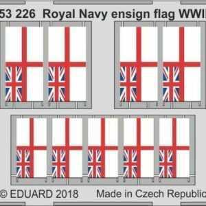 Royal Navy ensign flag WWII STEEL