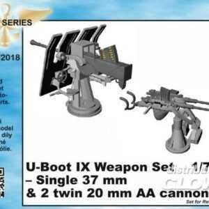 U-Boot IX Weapon Set - Single 37mm & 2 twin 20mm AA canons [Revell]